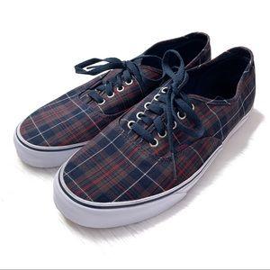 Men's Vans Navy Plaid Sneakers Size 11 1/2